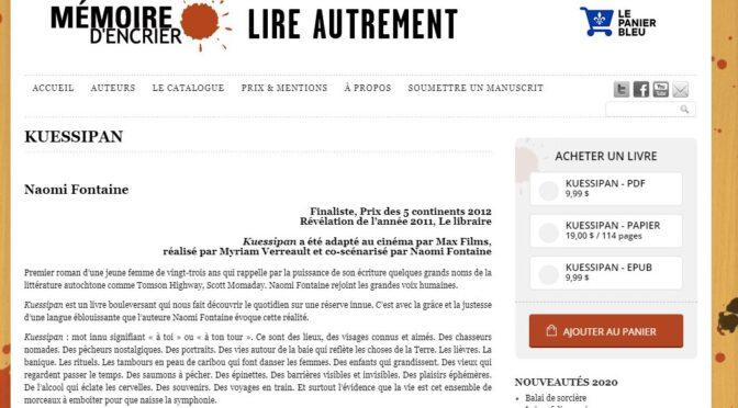 Résistance 4/101 :« Kuessipan », Myriam Verreault et Naomi Fontaine
